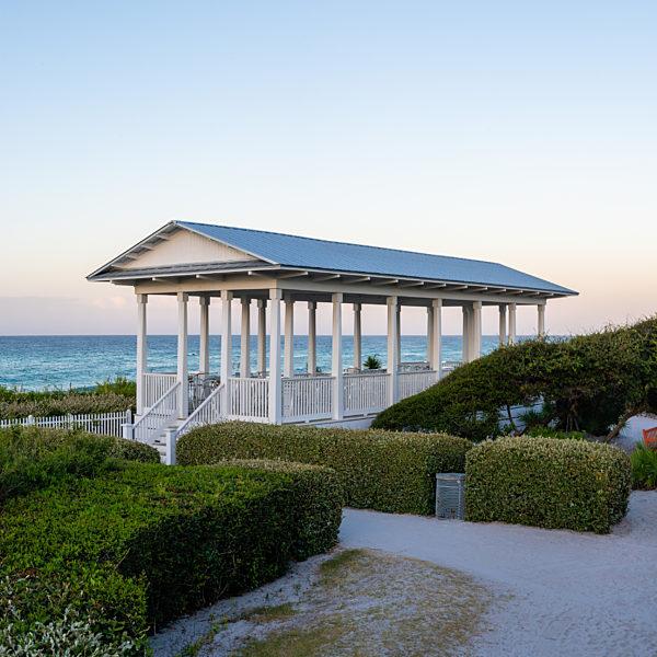 Yoga in Seaside, Florida on the Seaside Beach Pavilion