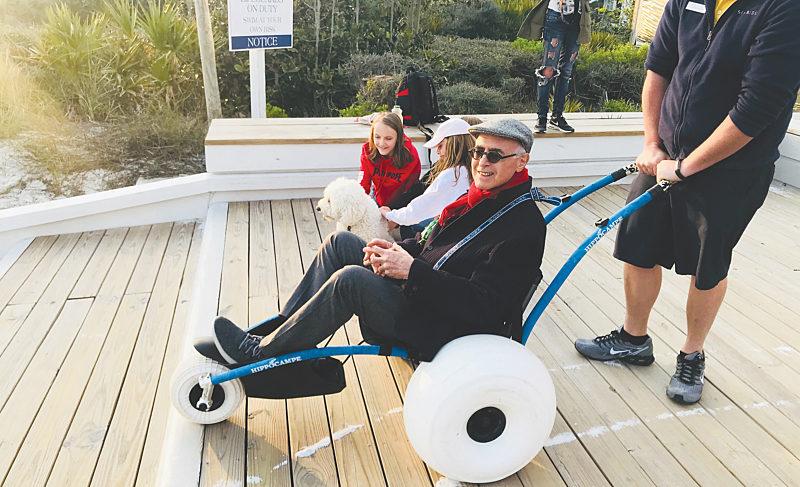 Beach-accessible wheelchair