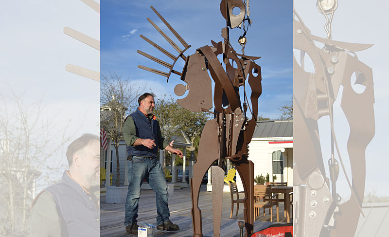 """""""Messenger"""" on loan at the Seaside Institute's Academic Village"""