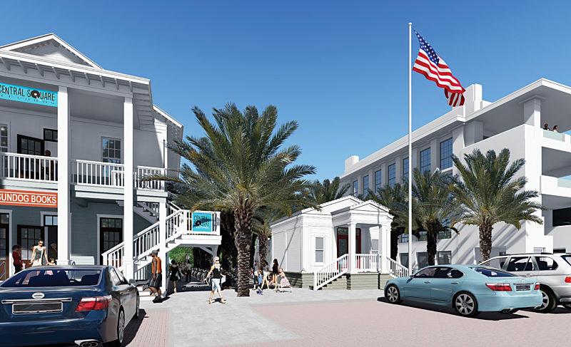 Seaside Breaks Ground on New Post Office Plaza