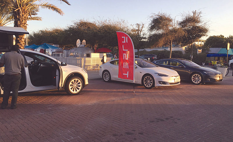 Tesla Cars On Display