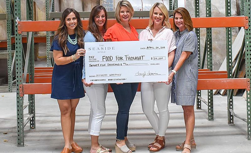 The Seaside Style donates $25,000 to Food For Thought