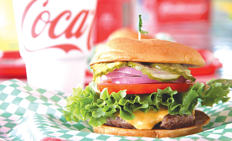 World Famous Pickle's Burger